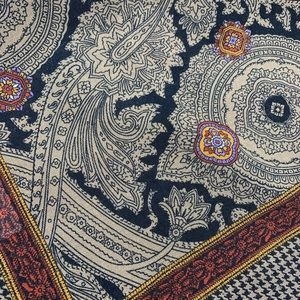 Vtg BETMAR Made In Italy Paisley Houndstooth Scarf